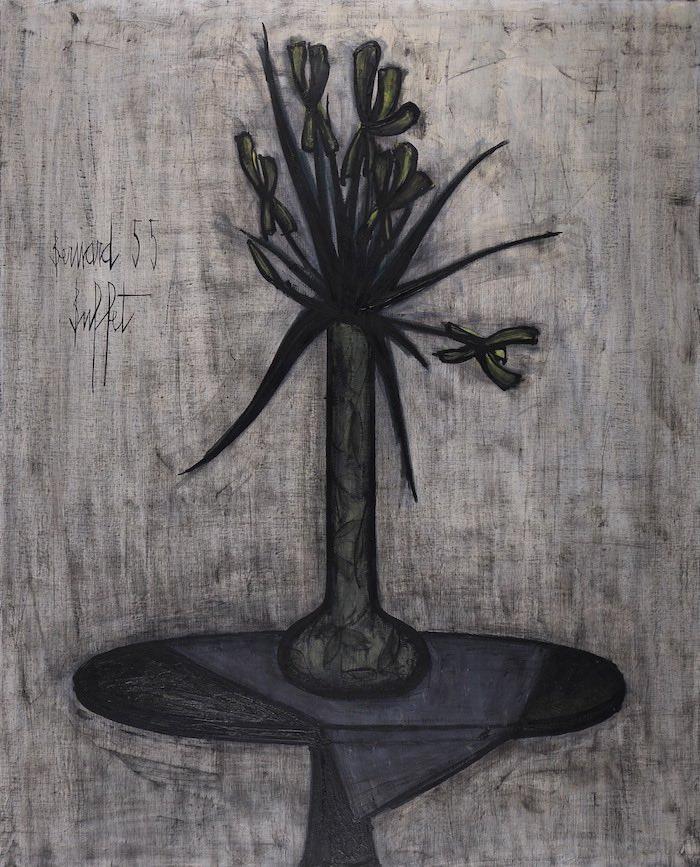 Bernard Buffet, Les iris, 1955, Oil on canvas