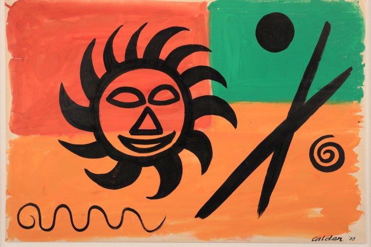 Alexander Calder, Composition, 1953, Gouache and ink on paper, 73 x 106,5 cm