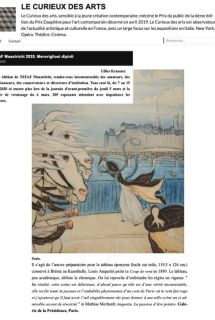 Picture of the blog Le Curieux des Arts, article about Tefaf 2020, with a work by Louis Anquetin : Bourrasque sur le pont des Saints-Pères