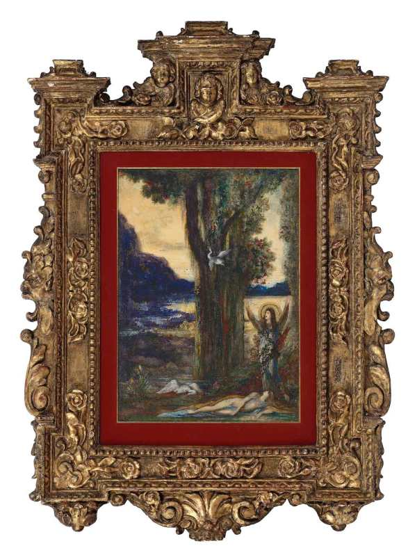 Gustave Moreau, La douleur d'Orphée: the work with its frame