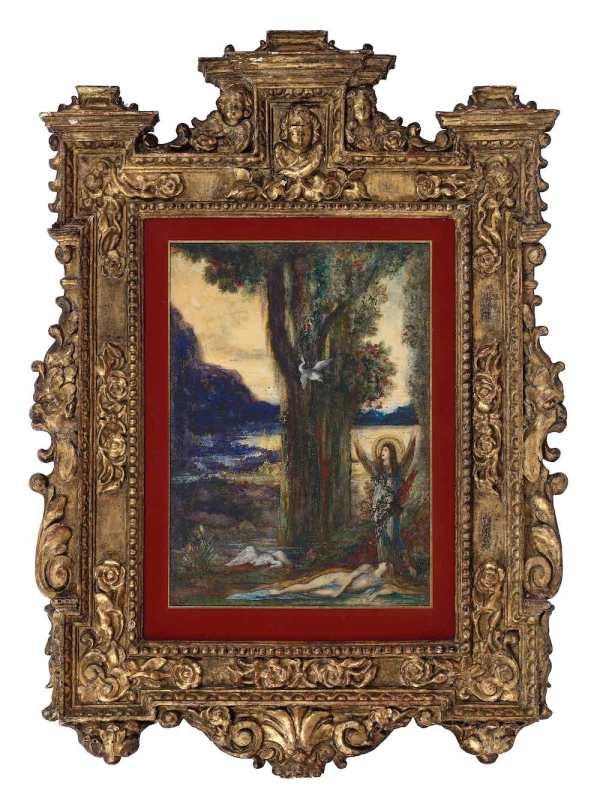 Gustave Moreau, La douleur d'Orphée : le tableau présenté avec son cadre
