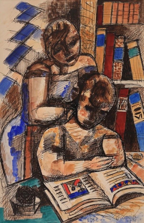 Marcel GROMAIRE, La leçon, 1931
