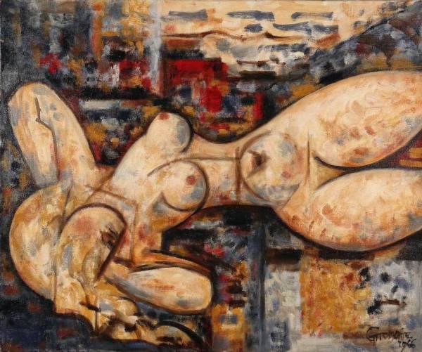 Marcel GROMAIRE, Nu allongé, 1966, oil on canvas