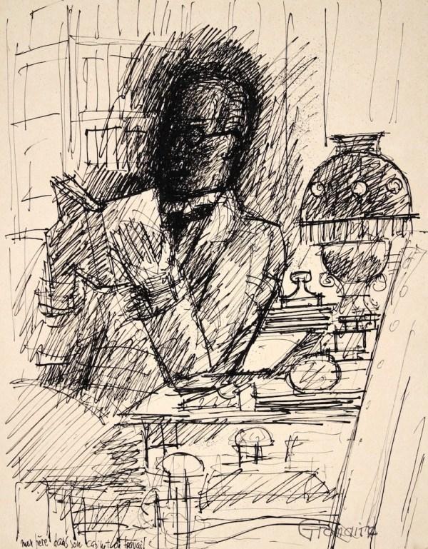 Marcel Gromaire, Mon père dans son cabinet de travail, 1938