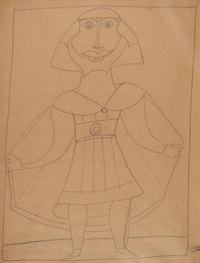 André Derain, Homme, Mine de plomb