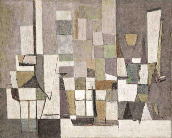 Geer van Velde, Composition, 1953