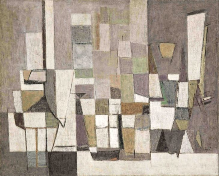 Geer van Velde, Composition, 1953