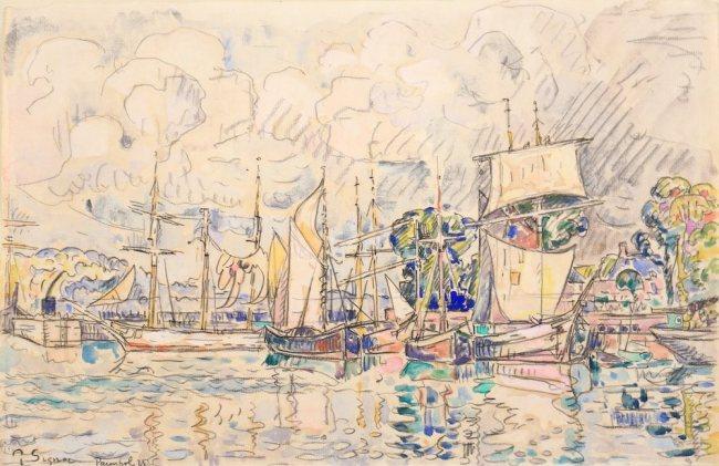 Paul SIGNAC, Paimpol, 1925