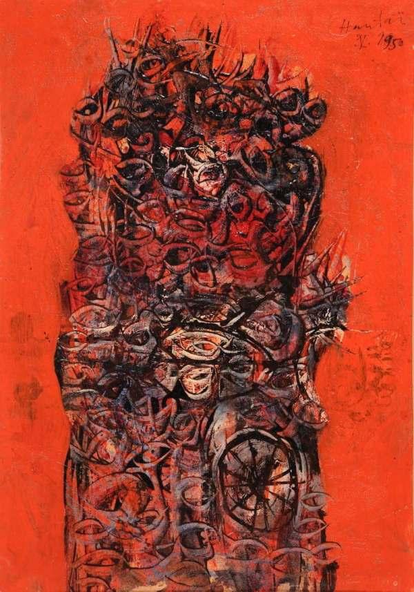 Simon Hantai, Sans titre, 1950