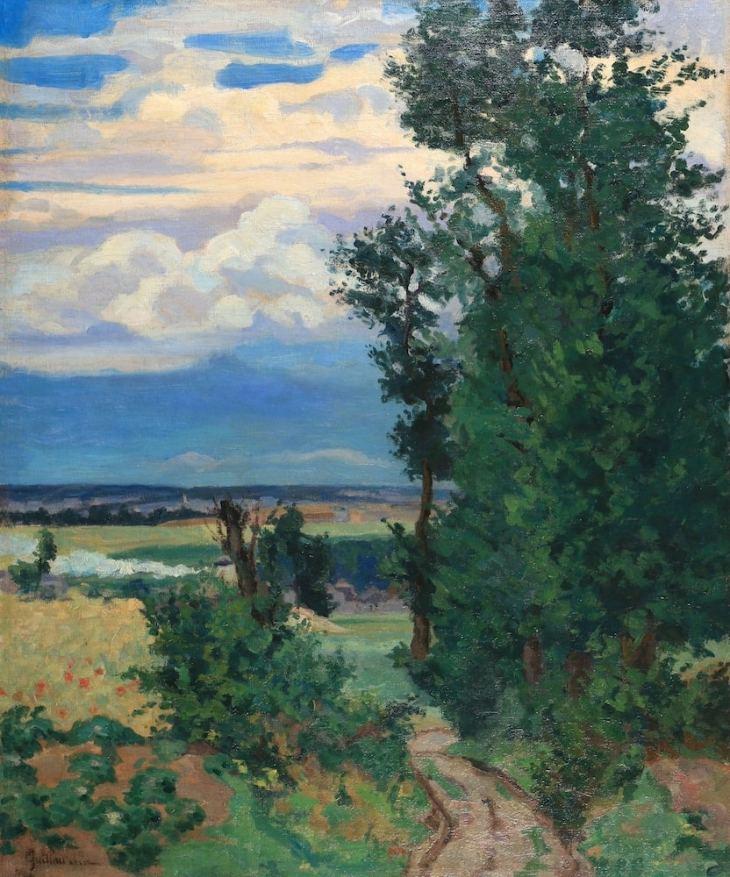 Armand Guillaumin, Le chemin creux Circa, 1888