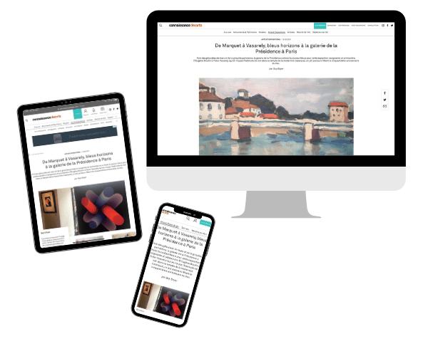 """Article sur le site connaissancedesarts.com au sujet de l'exposition """"Bleu"""""""