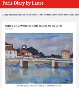 Paris Diary, Exposition Bleu, 1