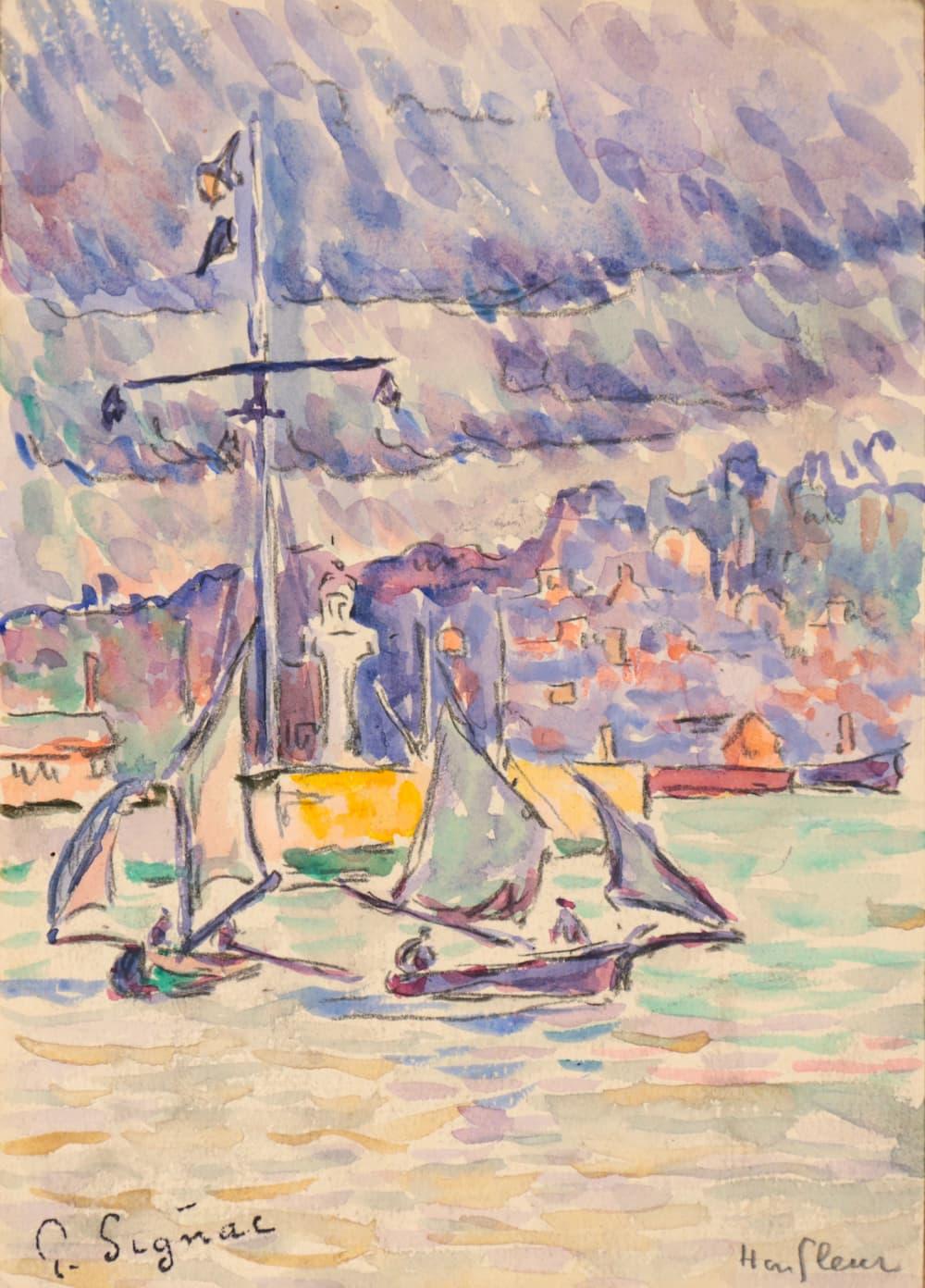 Paul Signac, Honfleur  Circa 1899