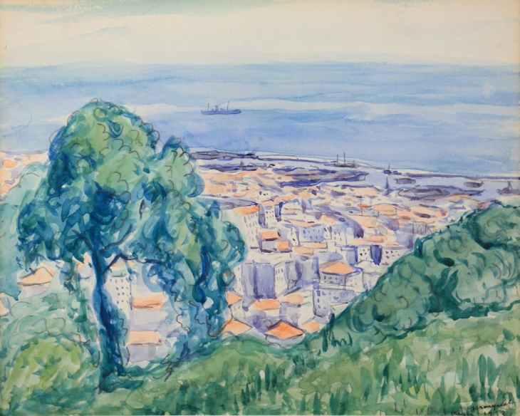 Albert Marquet Le port d'Alger vu des coteaux