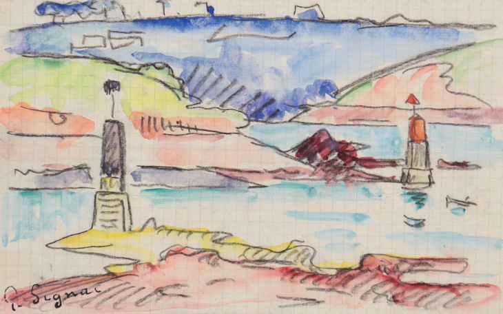 Paul Signac, L'Estuaire du Trieux à marée basse,  Circa 1925