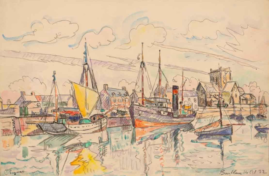 Paul SIGNAC, Barfleur, 14 octobre 1932