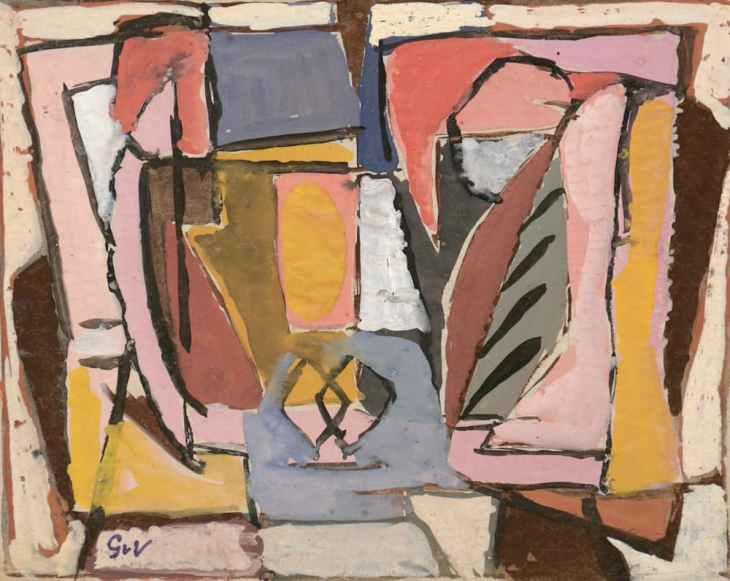 Geer van Velde, Composition, C.1945, Gouache