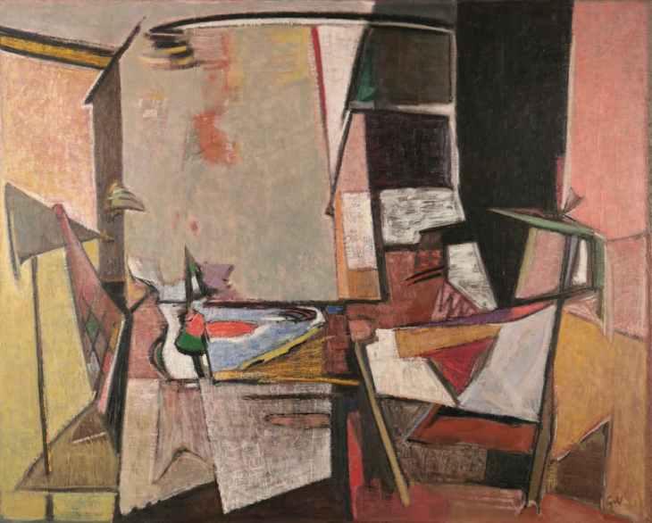 Geer van Velde, Composition, C.1946, Huile sur toile