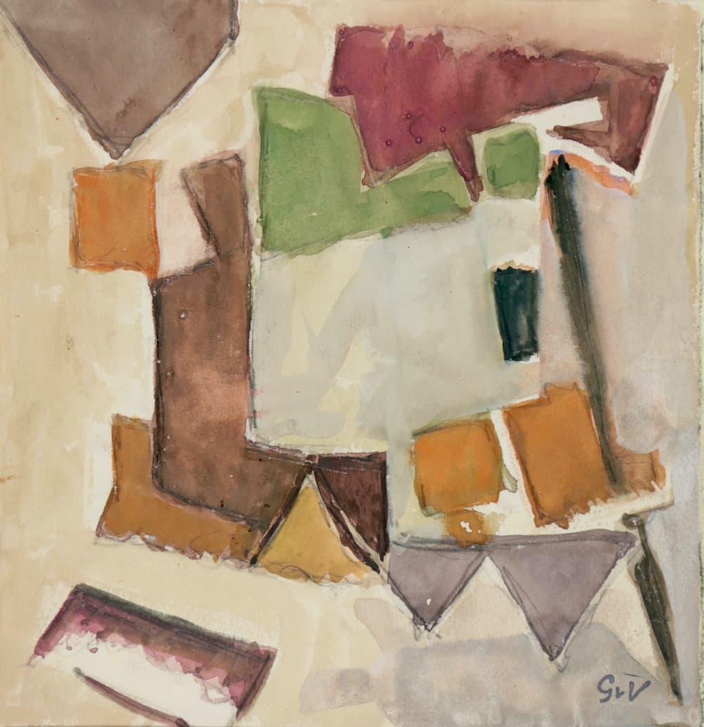 Geer van VELDE, Composition, C.1960, gouache et aquarelle 20,8 x 20,2 cm