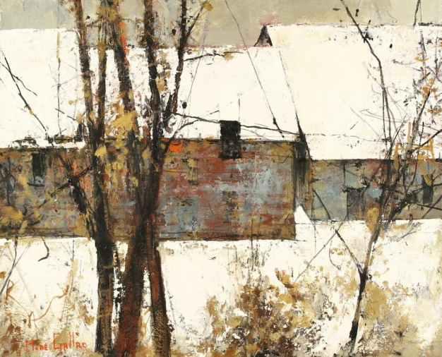 Michel de Gallard, Paysage de Neige, Huile sur toile