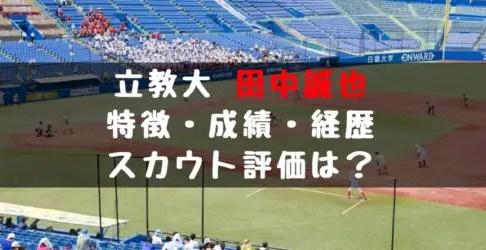 2019年 ドラフト 立教大学 田中 誠也はノビのある速球 成績 経歴 特徴