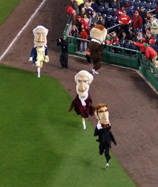Washington Nationals Earth Day Presidents Race