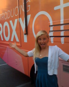 This is me in front of the Roxy Team Bus at the Surfer Poll Awards show in Orange County in September