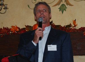 Volleyball legend Karch Kiraly, a Santa Barbara native, spoke at the Round Table's annual Fall Classic on Wednesday