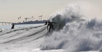 Anticipated swell hits the coast