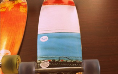 New Quiksilver skateboards on display at Sundance