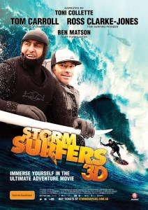 Storm Surfers 3D will premiere in the United States on Sunday January 27th at 8 p.m. at the Arlington Theatre.