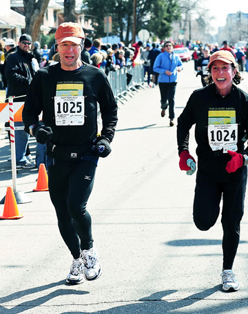 Hal and Fran competing in one of many races together