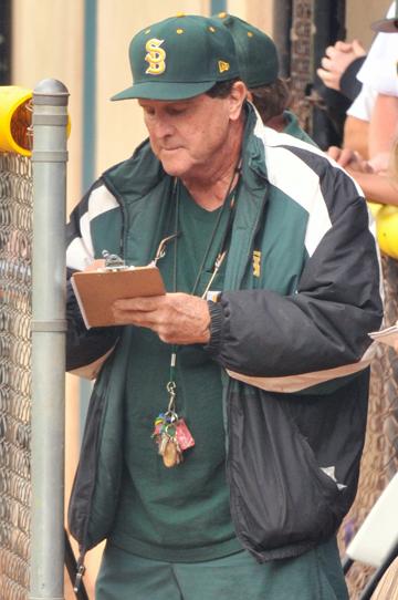 Santa Barbara High baseball coach George Rempe