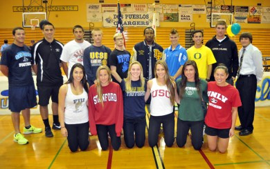 Dos Pueblos hosts signing ceremony for scholarship student-athletes