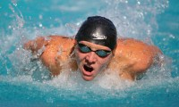 Alex Valente, record-setting swimmer, is Sports Figure of the Month