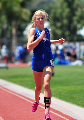 Erica Schroeder is the defending CIF champion in the 800 meters.