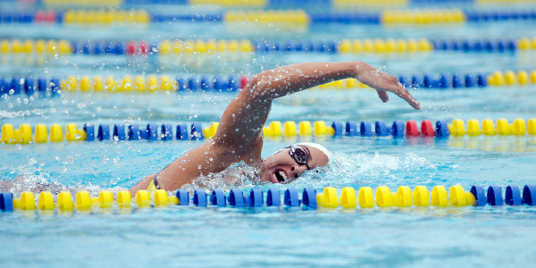 Velasquez is a middle-distance free style swimmer for the Gauchos.