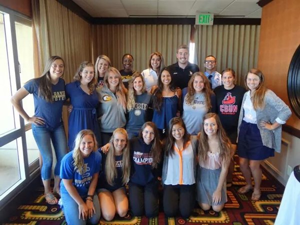 Micaela Velasquez represented all student-athletes at UCSB at a recent Big West Conference meeting.