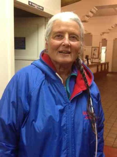 Monica Jones is part of a senior women's relay that plans to swim from Santa Cruz Island to Oxnard.