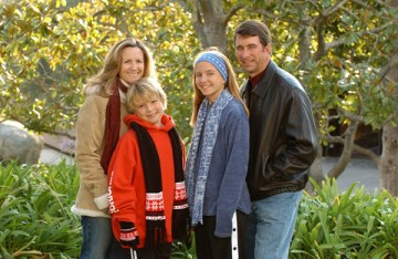 A family photo taken in 2004.