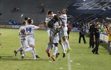 DePuy's last-minute goal stuns No. 3 UC Irvine