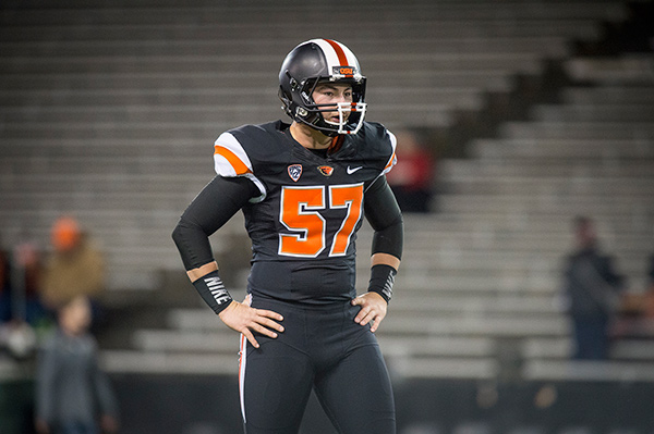 Connor Kelsey hopes to be Oregon State's starting long snapper next season.