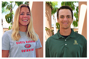 Moropoulos, Visser honored as Athletes of the Week