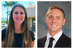 Record-setters Feshbach, Valente earn Athlete of Week honors