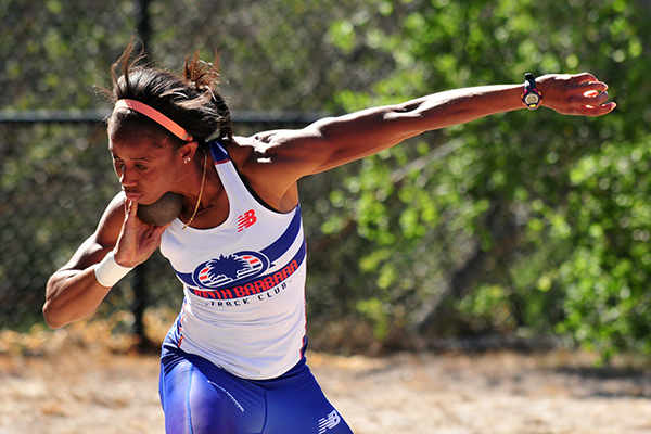 Barbara Nwaba is No. 2 in the country in the heptathlon. (Presidio Sports Photo)