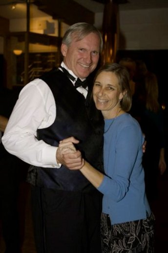 Steve Rehage, with wife , flashes his award-winning smile.