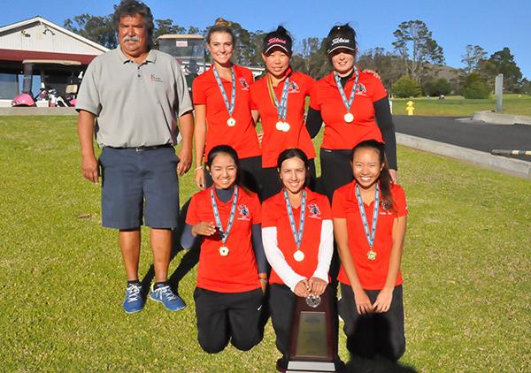 The SBCC women's golf team. (George Mategakis Photos)