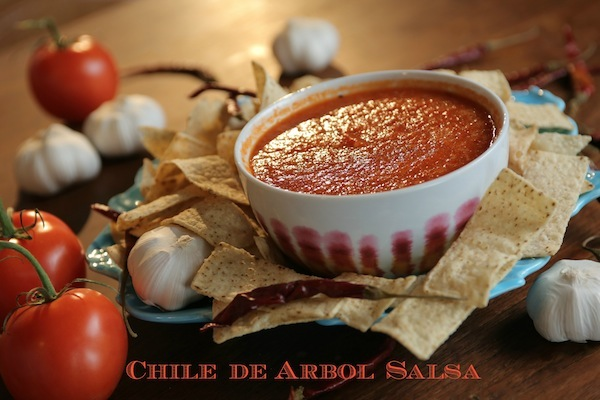 A simple Chile de Arbol Salsa