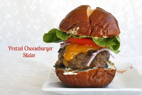 Pretzel Cheeseburger Slider #RanchRemix