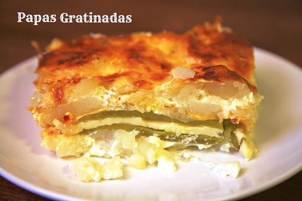 Papas Gratinadas: Mexican Potatoes Au Gratin